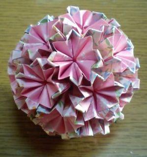 NO.009:小花柄 桃×桃 の5センチ角