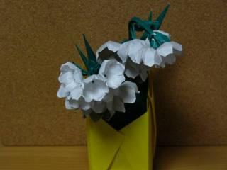 折り紙造花 すずらん その5