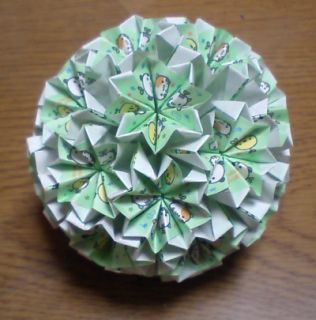 NO.001:まめどうぶつ柄 緑×白 の7.5センチ角